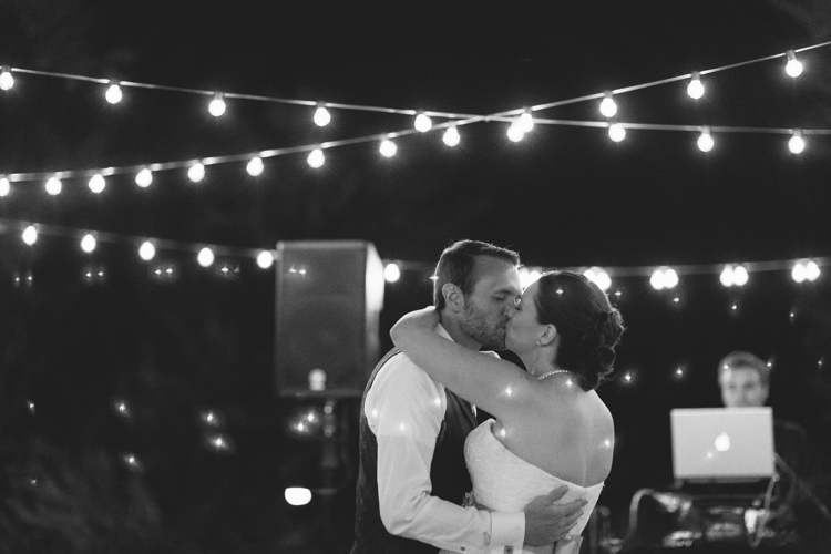bride and groom first dance roof hassayampa
