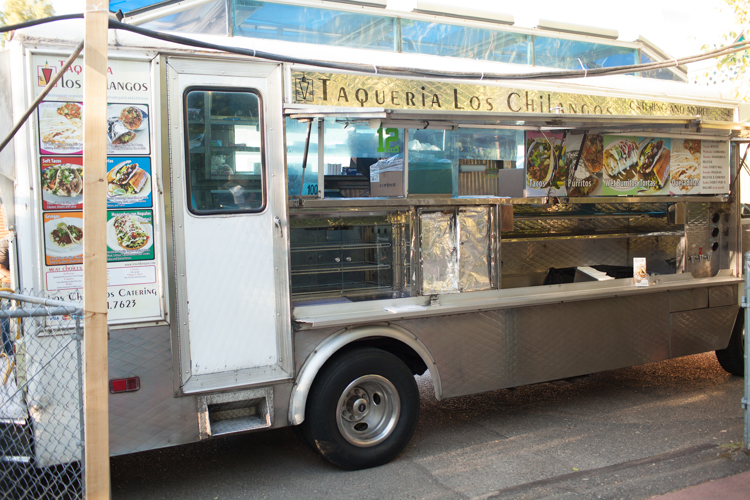 Taco truck as catering for wedding reception.