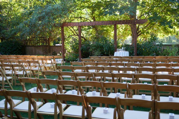 Wedding ceremony at the hall at Fauntleroy in west seattle.