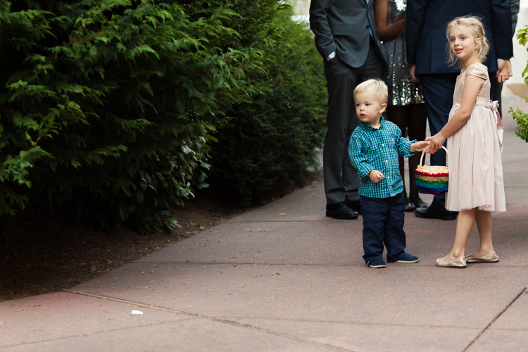 Bringing small children to wedding ceremony.