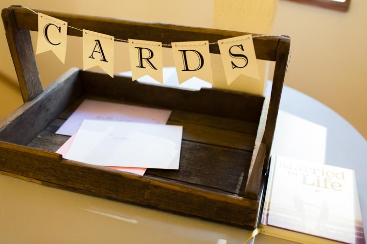 Wedding thank you card wooden box.