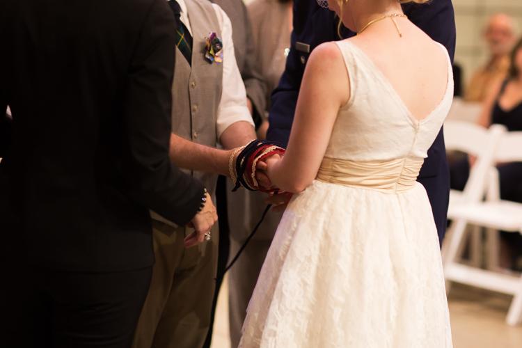 Hand binding wedding ceremony.