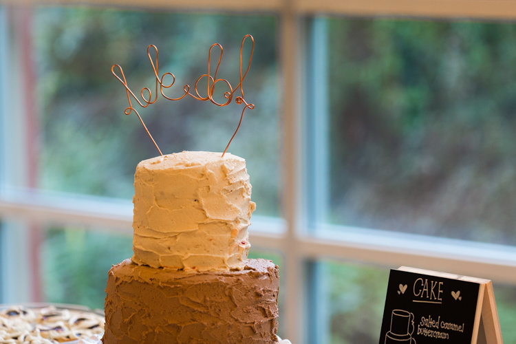 custom copper wire wedding cake topper