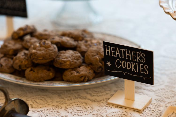 Homemade cookies dessert table.