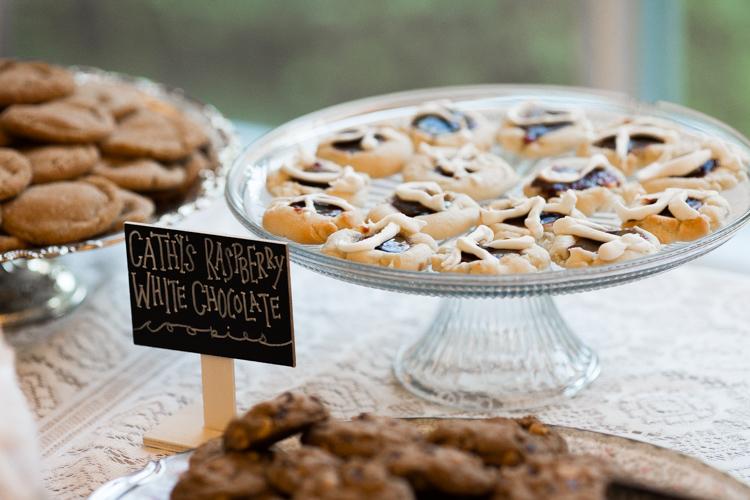Wedding reception dessert table.