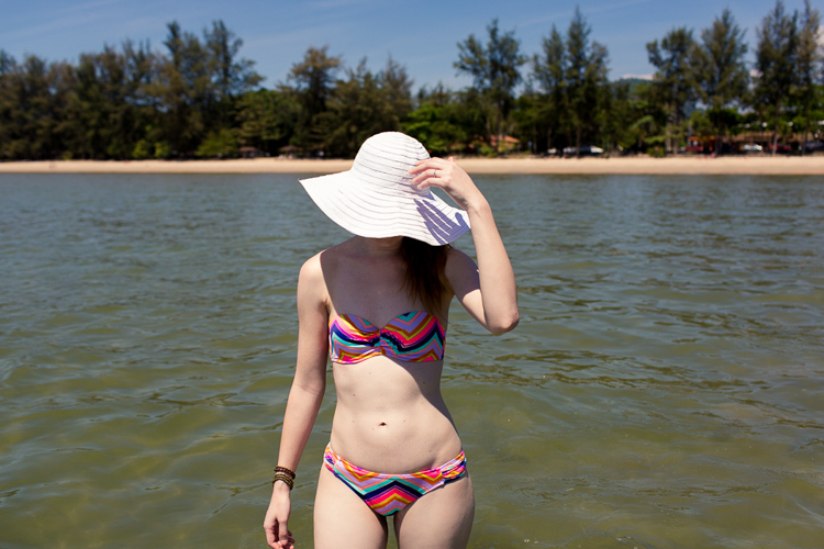 floppy hat and bikini krabi
