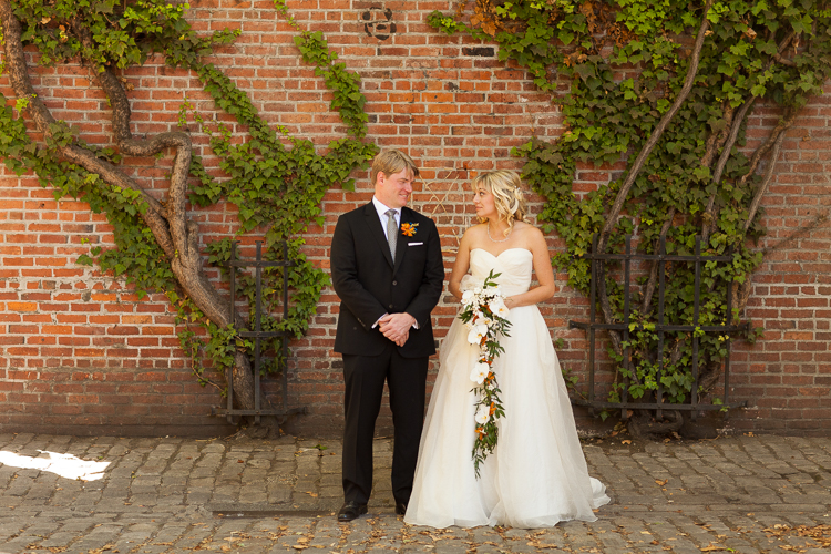 downtown seattle brick wedding photography formals