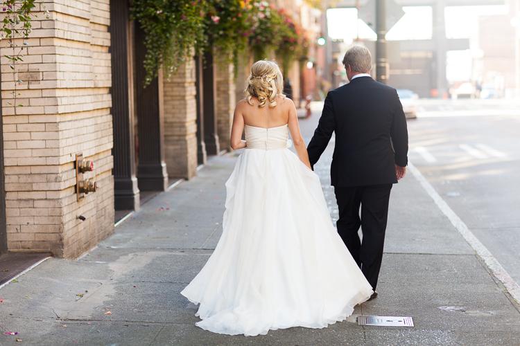 bride and groom walking, ethereal wedding photography