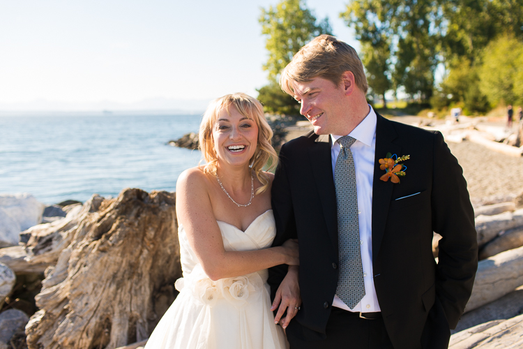 waterfront wedding portraits