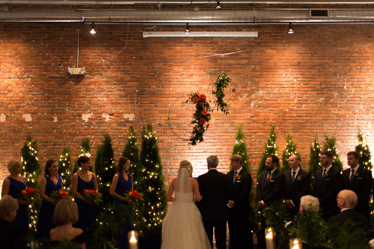 Winter Wedding Christmas Pine Tree Axis Seattle Ceremony