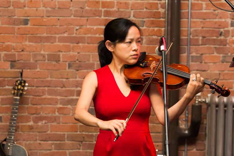 violin at wedding reception