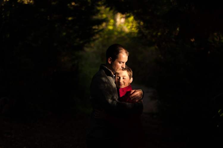 great lighting during engagement session