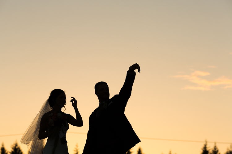 awesome silhouette wedding photography