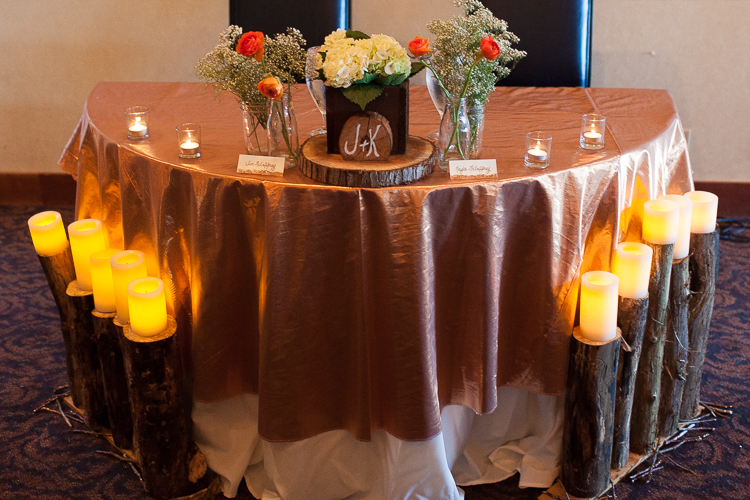 head table wedding decor