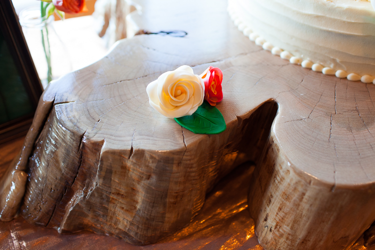 handmade wood slab wedding