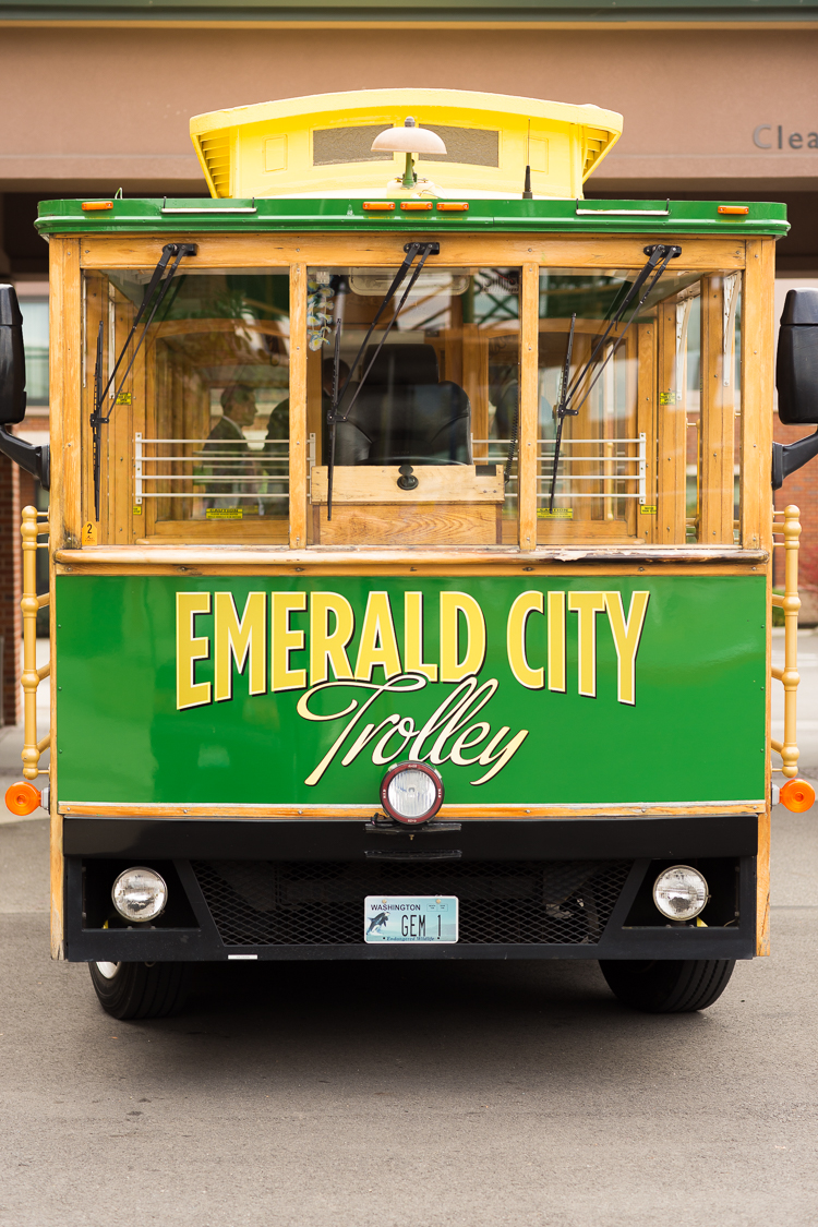 emerald city trolley wedding