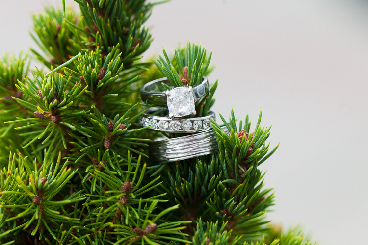 beautiful winter wedding ring photography