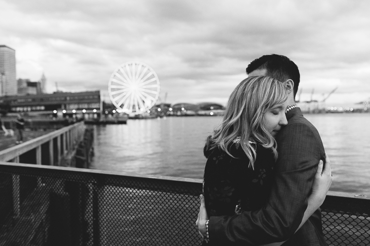 seattle pier engagement session