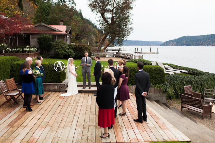 Family gathers for Hood canal destination elopement.
