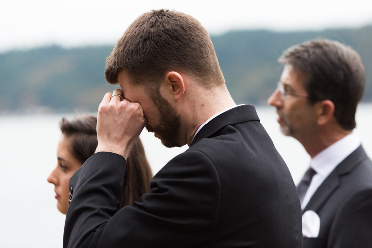 Guests tear up at small wedding ceremony
