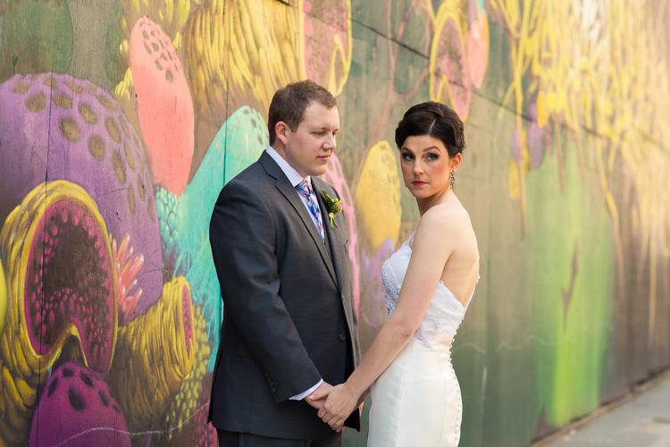 graffiti wedding photography