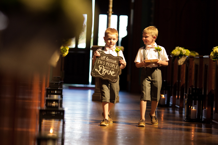 here comes the bride ring bearers
