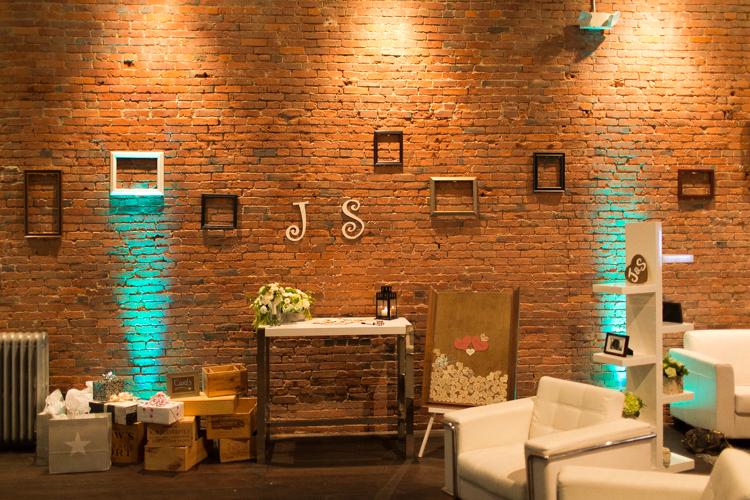 frame wall wedding reception