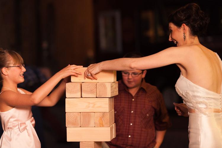 giant jenga wedding game
